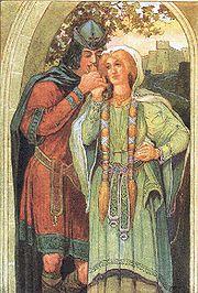 Tristán e Isolda, por Louis Rhead.
