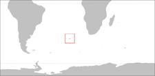 Localización de Tristán da Cunha